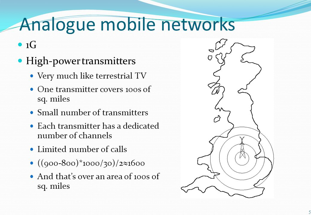 Analogue mobile networks