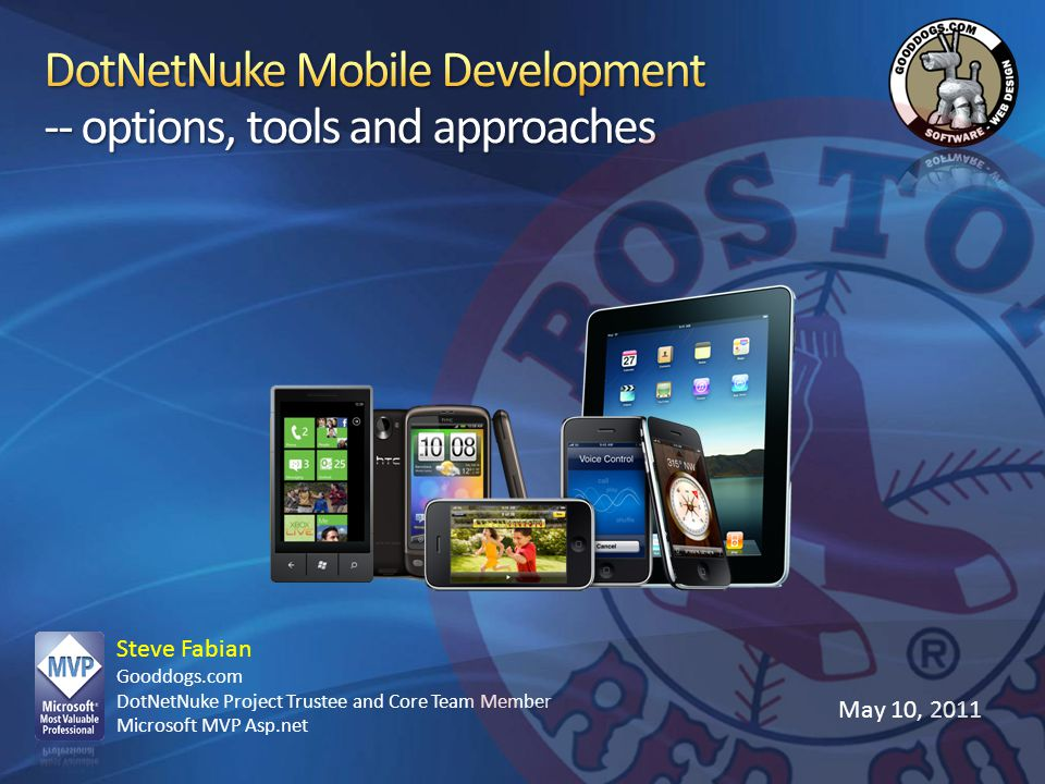 DotNetNuke Mobile Development -- options, tools and approaches