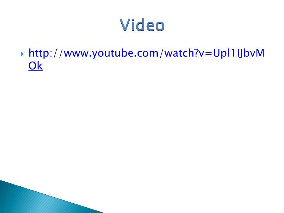 Video http://www.youtube.com/watch v=Upl1IJbvM Ok