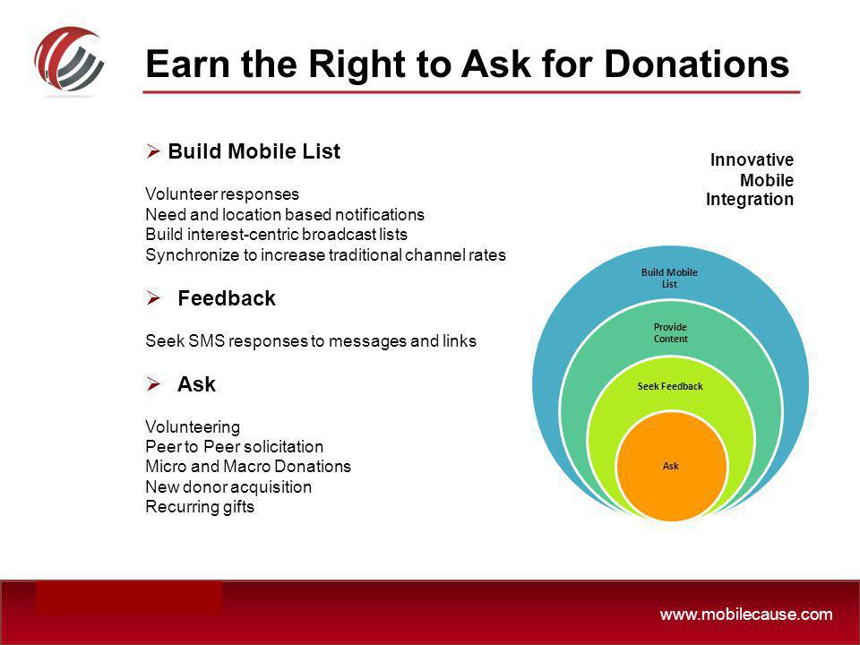 Earn the Right to Ask for Donations