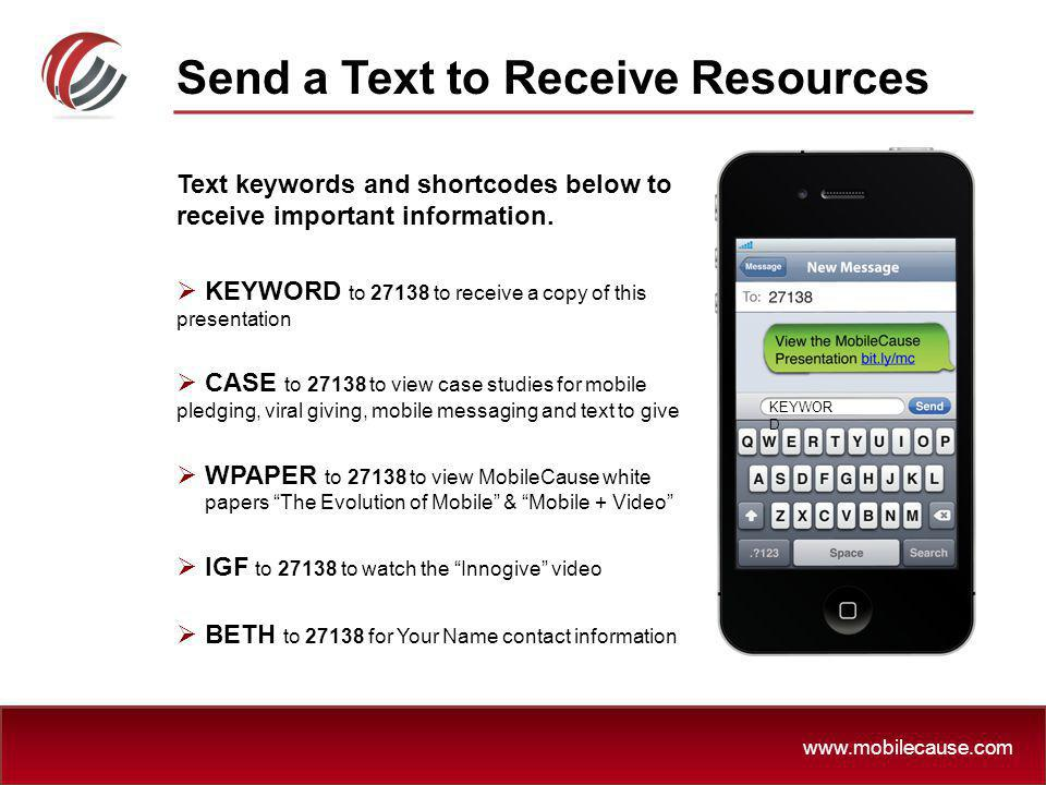 Send a Text to Receive Resources