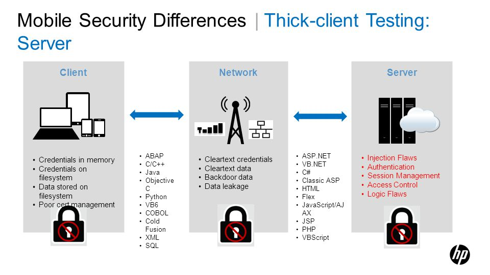 Mobile Security Differences | Thick-client Testing: Server