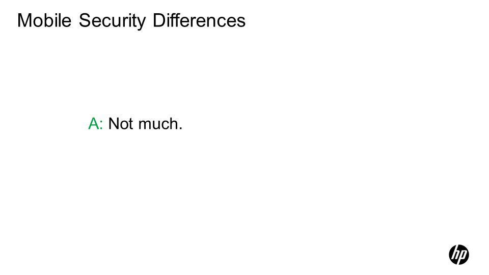 Mobile Security Differences