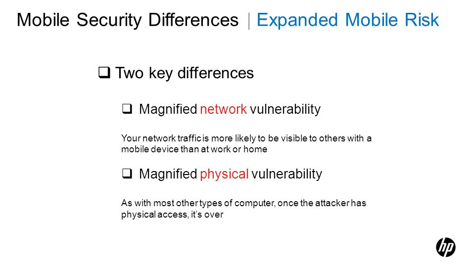 Mobile Security Differences | Expanded Mobile Risk