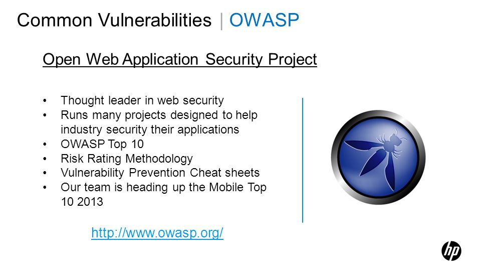 Common Vulnerabilities | OWASP