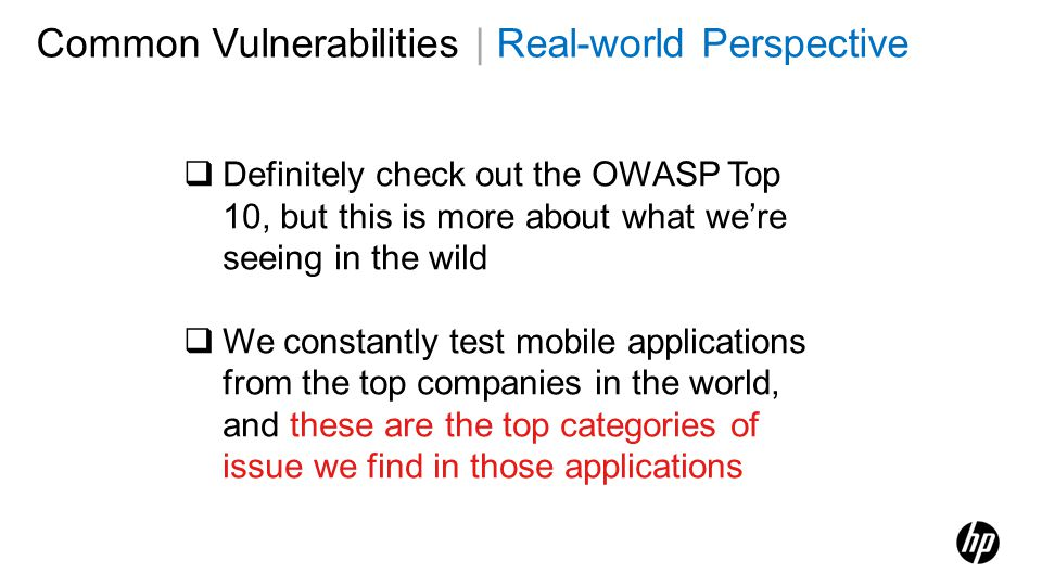 Common Vulnerabilities | Real-world Perspective