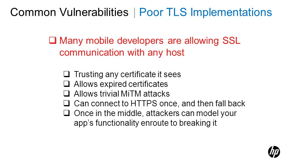 Common Vulnerabilities | Poor TLS Implementations