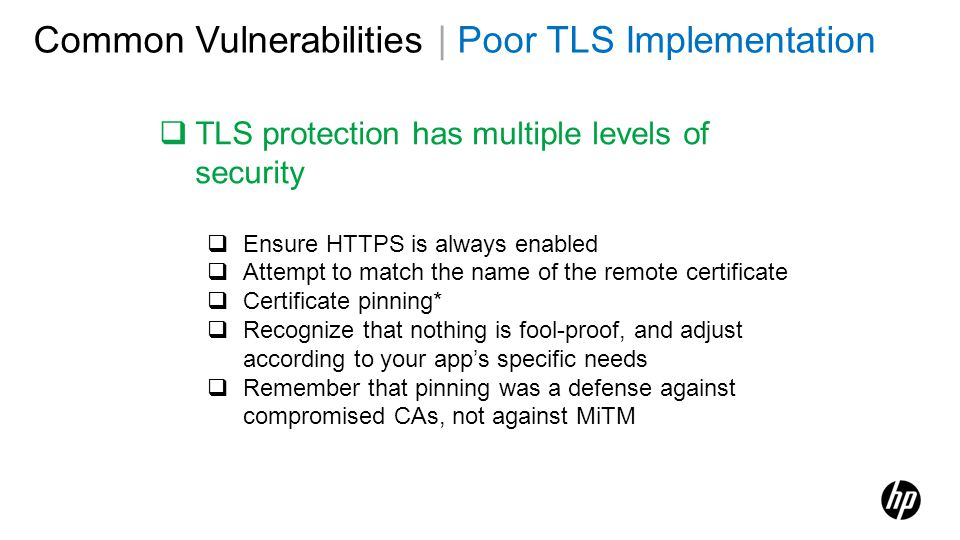 Common Vulnerabilities | Poor TLS Implementation