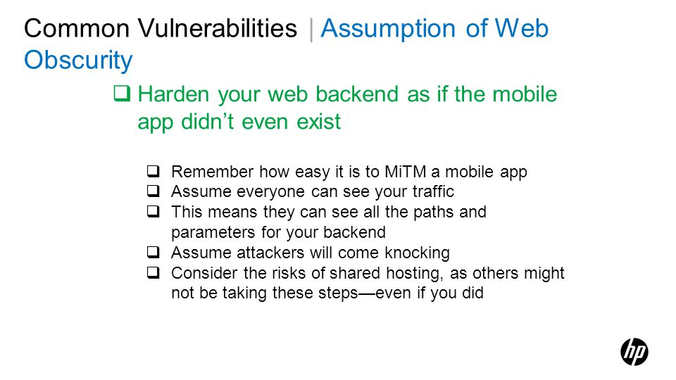 Common Vulnerabilities | Assumption of Web Obscurity