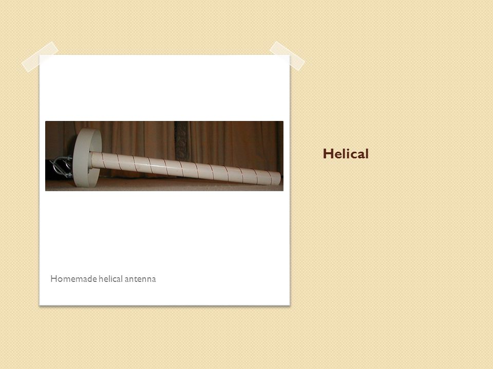 Helical Homemade helical antenna