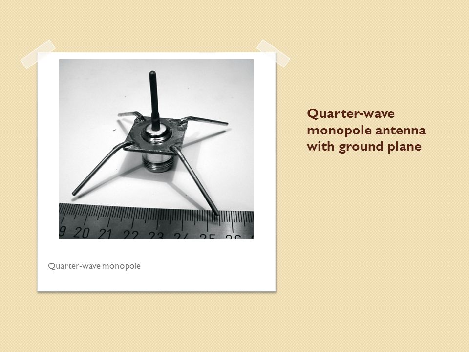 Quarter-wave monopole antenna with ground plane