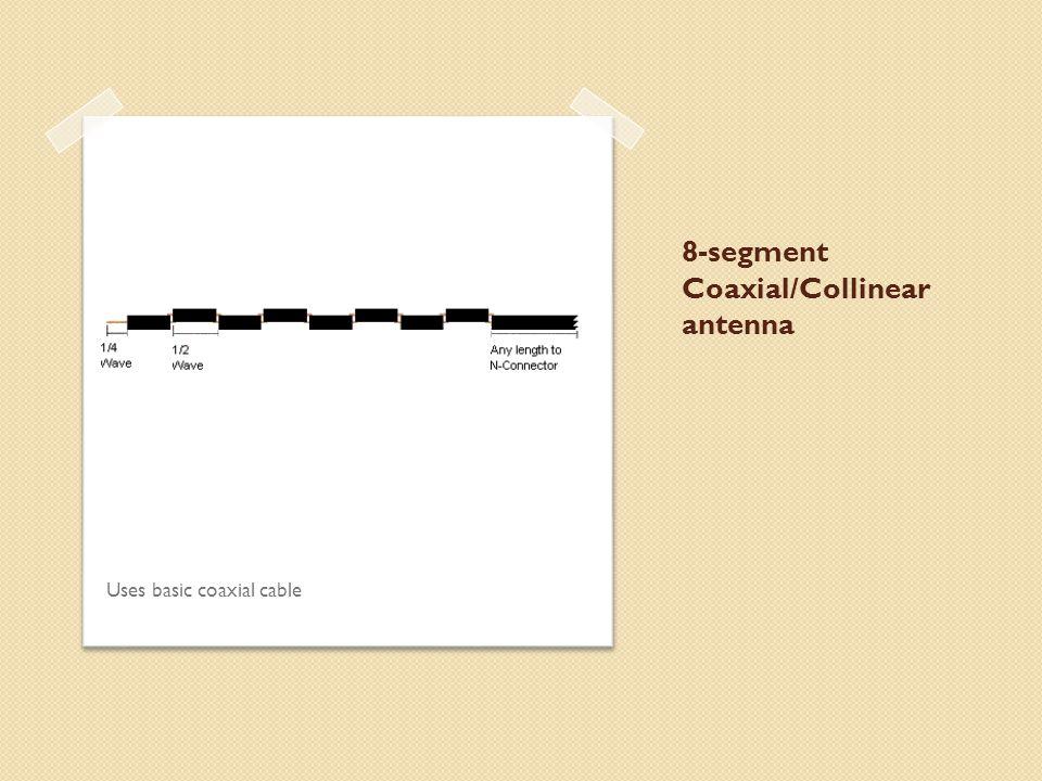 8-segment Coaxial/Collinear antenna