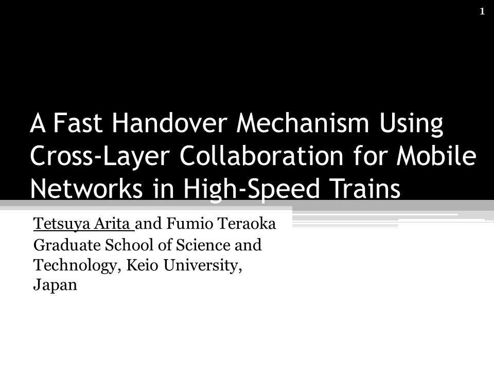 A Fast Handover Mechanism Using Cross-Layer Collaboration for Mobile Networks in High-Speed Trains