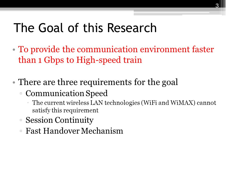 The Goal of this Research