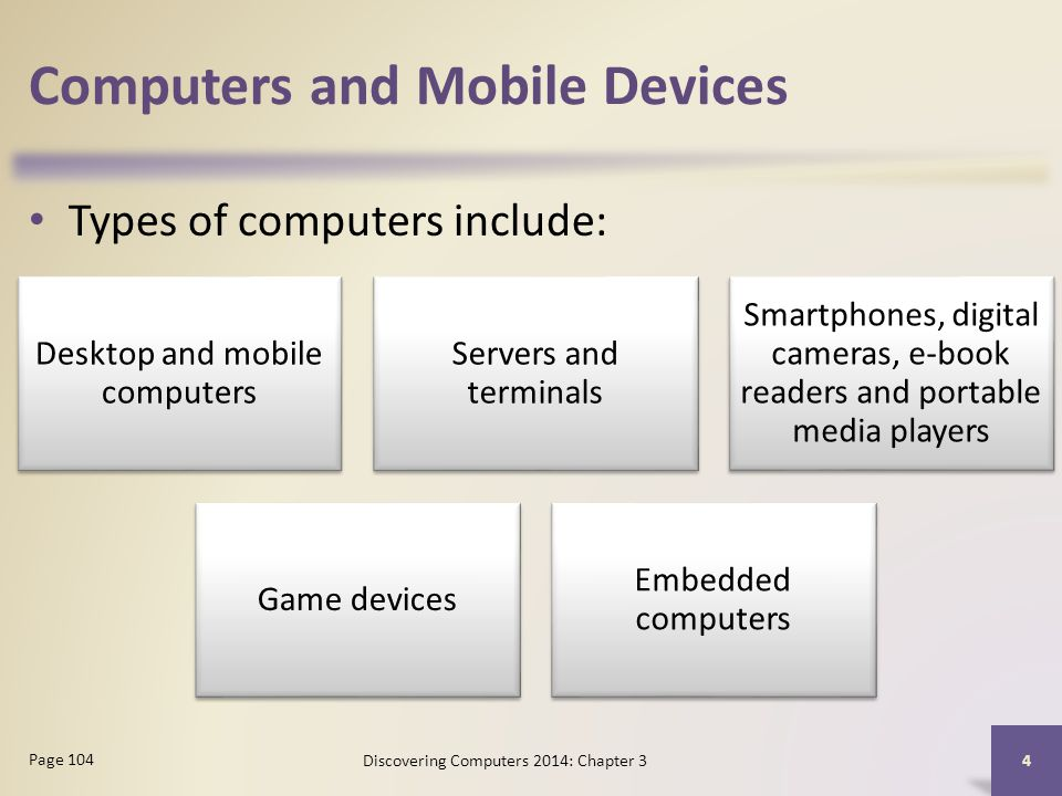 Computers and Mobile Devices