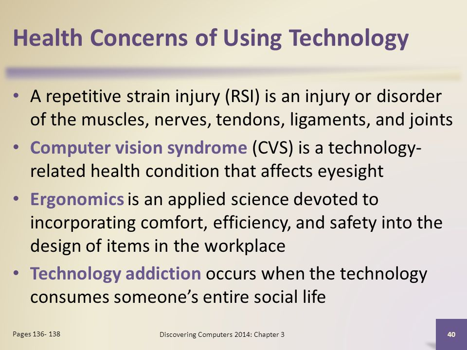 Health Concerns of Using Technology