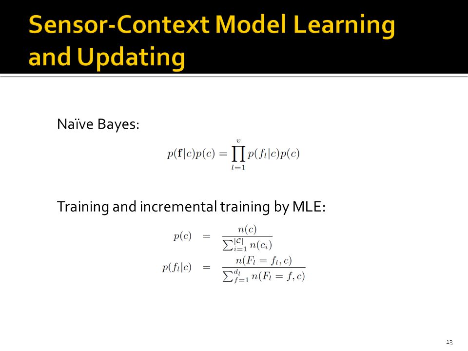 Sensor-Context Model Learning and Updating