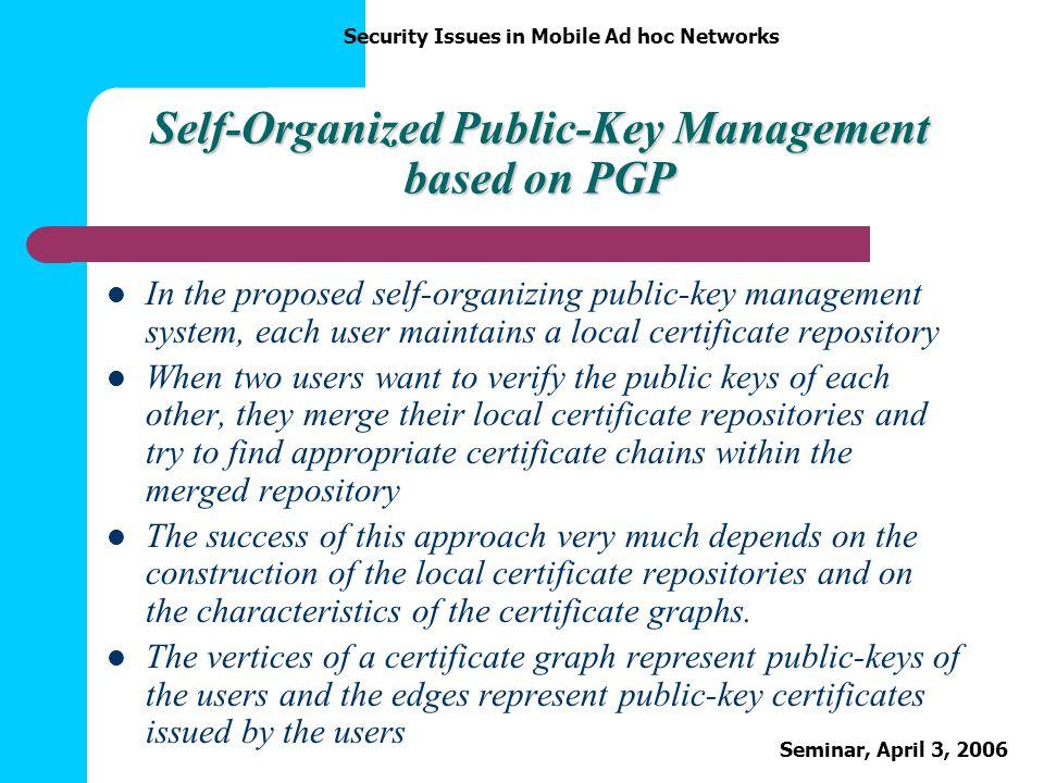 Self-Organized Public-Key Management based on PGP