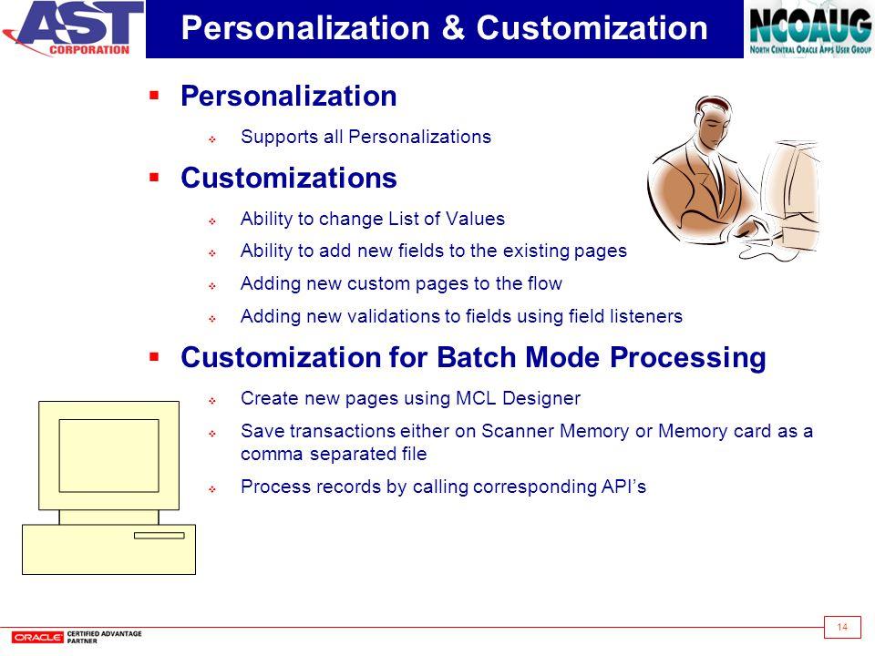 Personalization & Customization