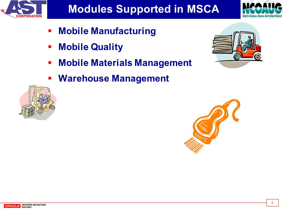 Modules Supported in MSCA