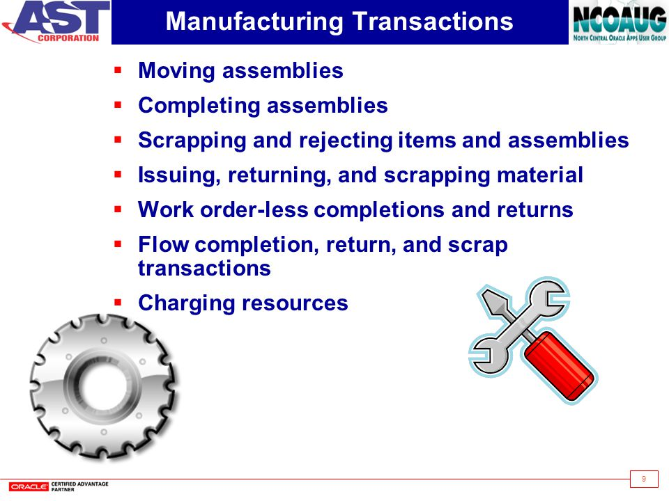 Manufacturing Transactions