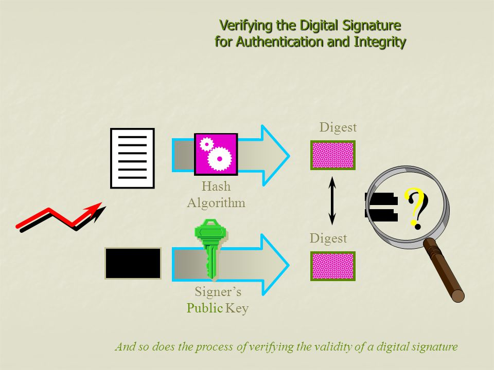 Verifying the Digital Signature for Authentication and Integrity