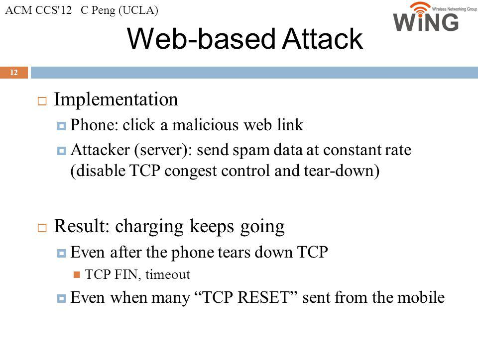 Web-based Attack Implementation Result: charging keeps going
