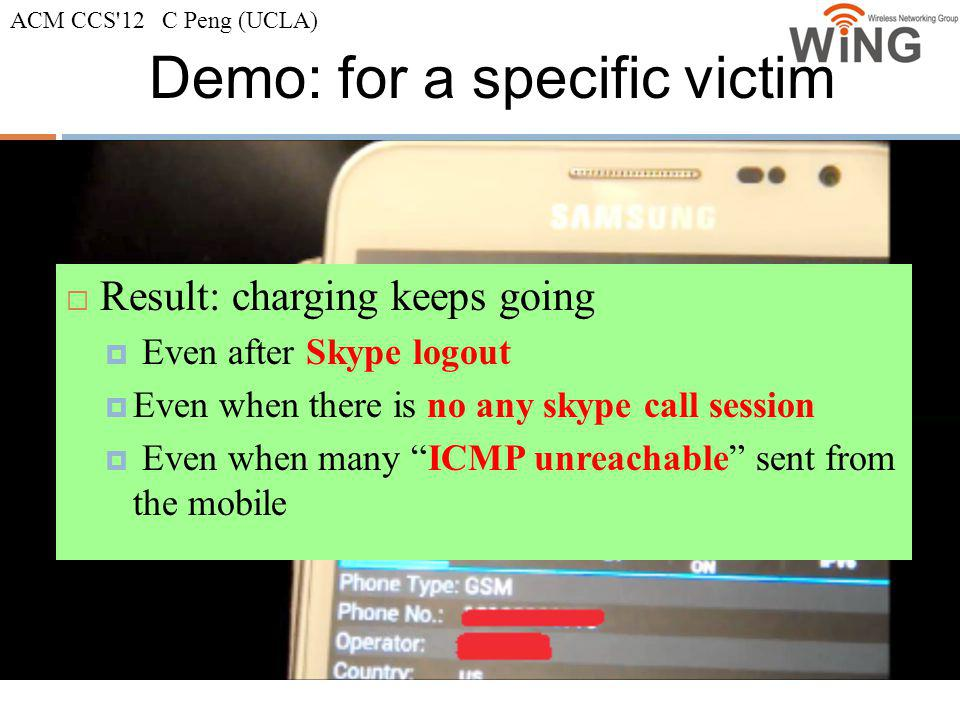 Demo: for a specific victim