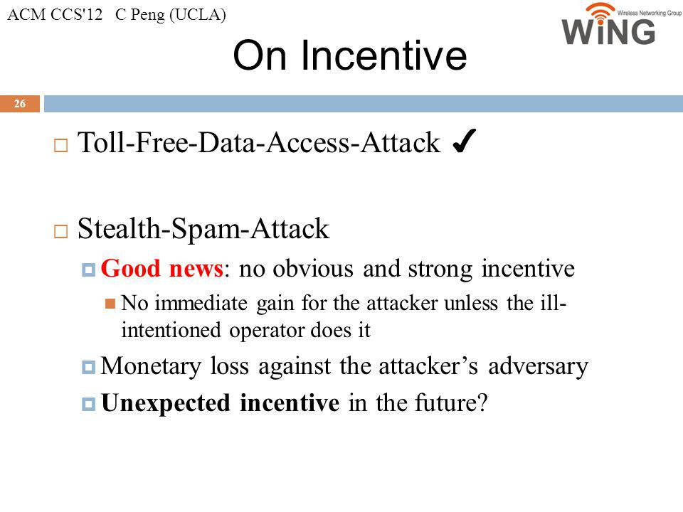 On Incentive Toll-Free-Data-Access-Attack ✔ Stealth-Spam-Attack
