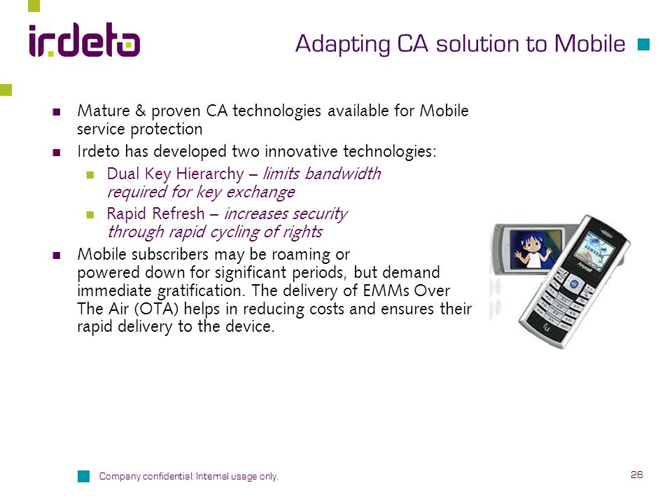 Adapting CA solution to Mobile