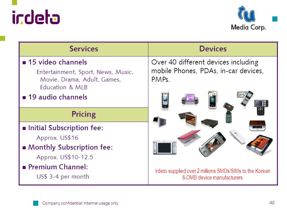 Services Devices Pricing