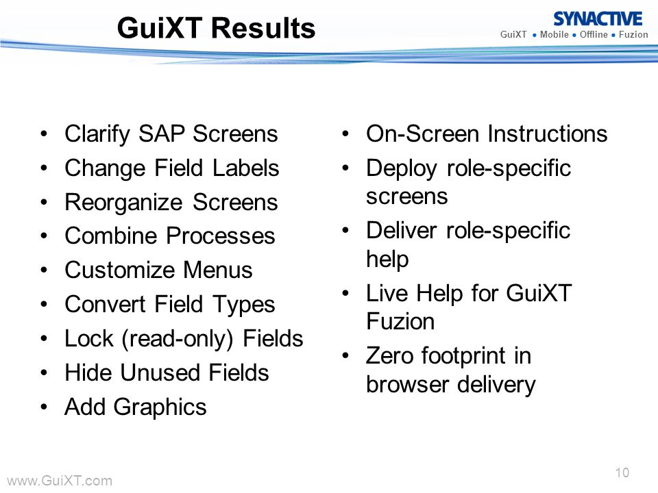 GuiXT Results Clarify SAP Screens Change Field Labels
