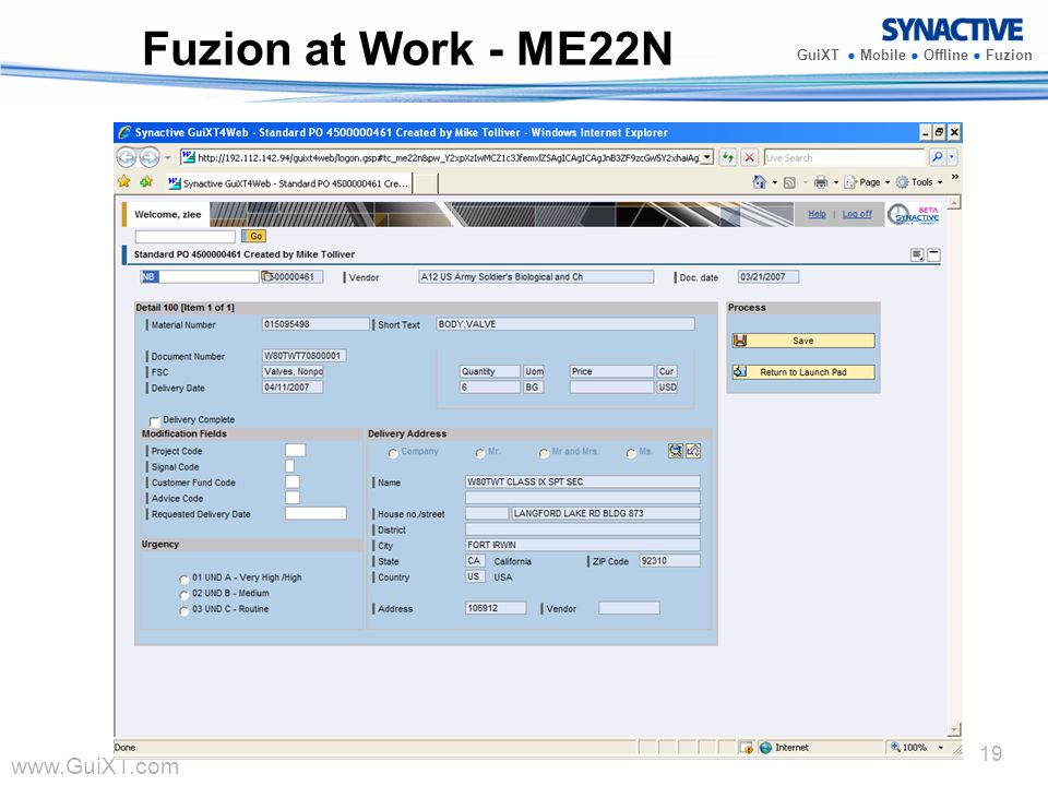 Fuzion at Work - ME22N