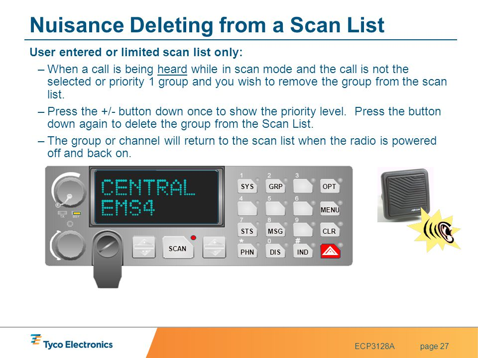 Nuisance Deleting from a Scan List