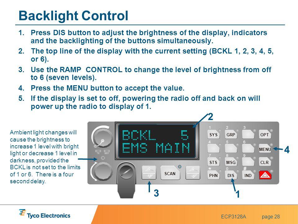 Backlight Control BCKL 5 EMS MAIN 2 4 3 1