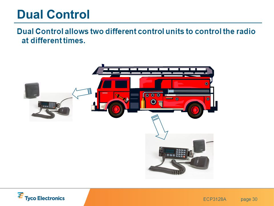 Dual Control Dual Control allows two different control units to control the radio at different times.