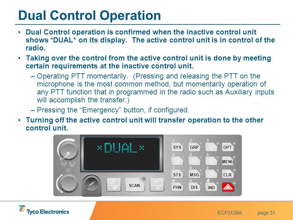 Dual Control Operation