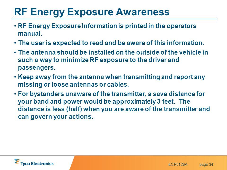 RF Energy Exposure Awareness