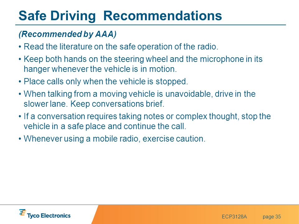 Safe Driving Recommendations