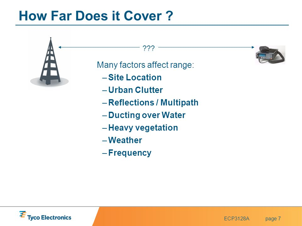 How Far Does it Cover Many factors affect range: Site Location