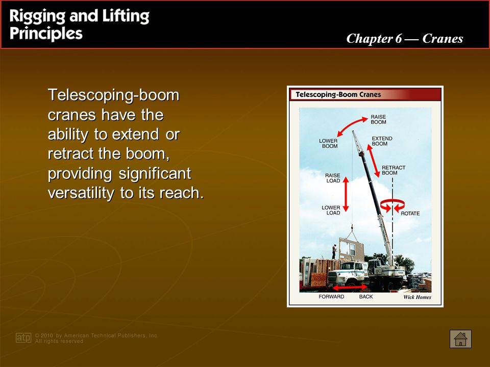 Telescoping-boom cranes have the ability to extend or retract the boom, providing significant versatility to its reach.