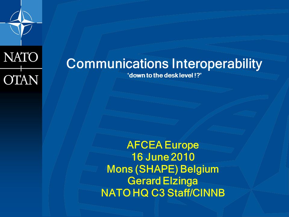 Communications Interoperability 'down to the desk level ! '