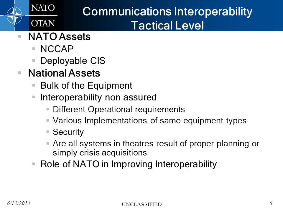 Communications Interoperability Tactical Level