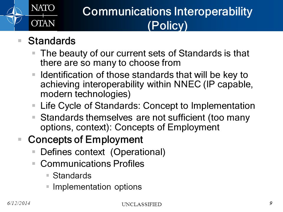 Communications Interoperability (Policy)
