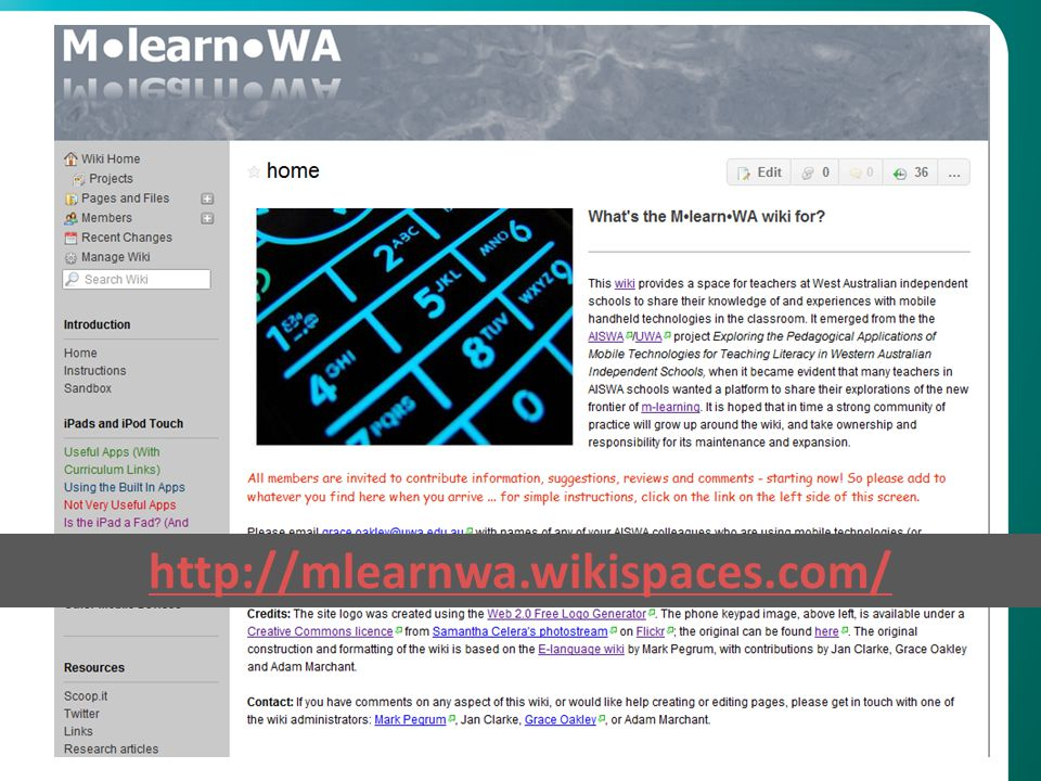 http://mlearnwa.wikispaces.com/