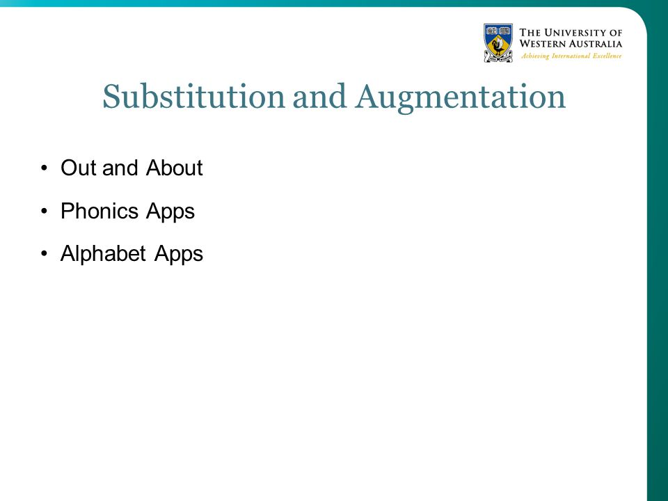 Substitution and Augmentation