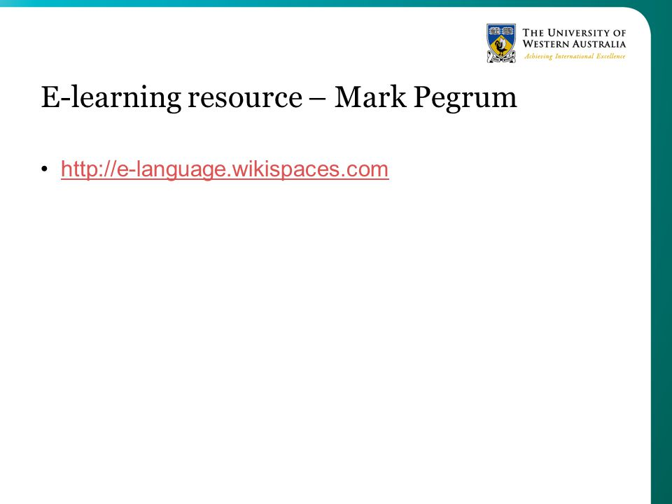 E-learning resource – Mark Pegrum