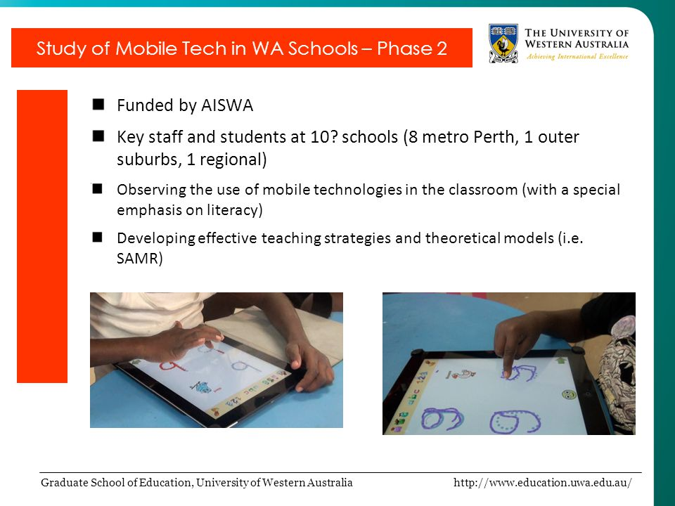 Study of Mobile Tech in WA Schools – Phase 2