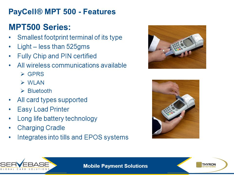 PayCell® MPT 500 - Features