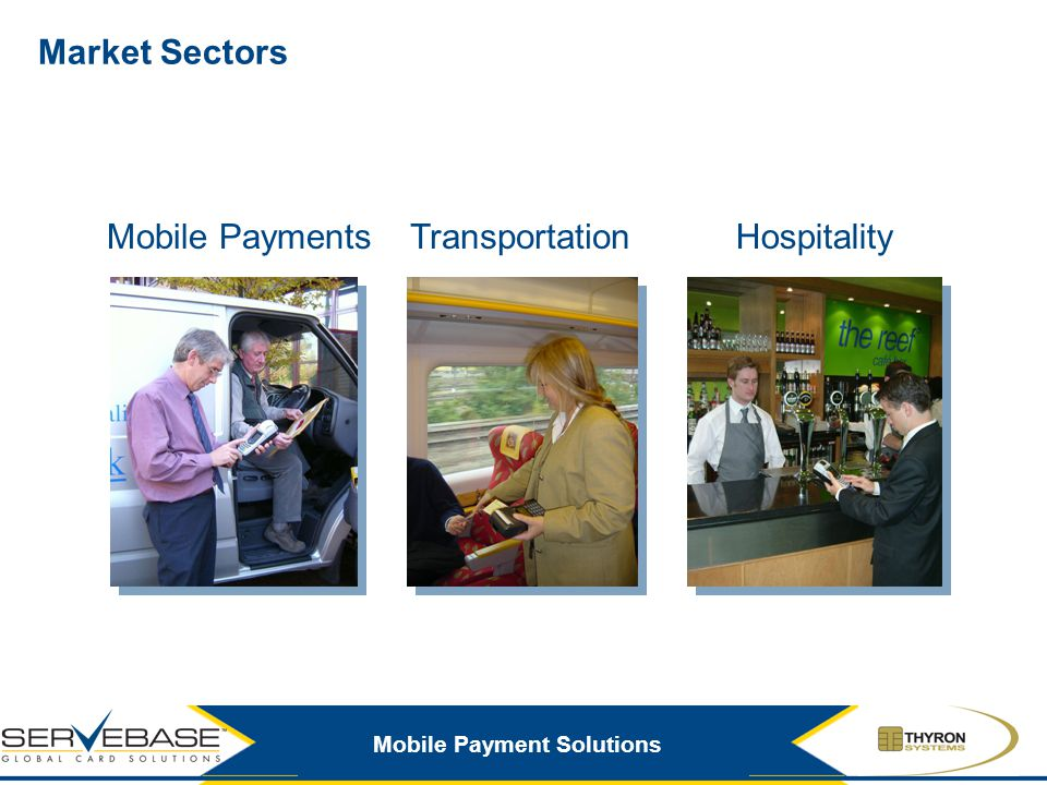 Market Sectors Mobile Payments Transportation Hospitality